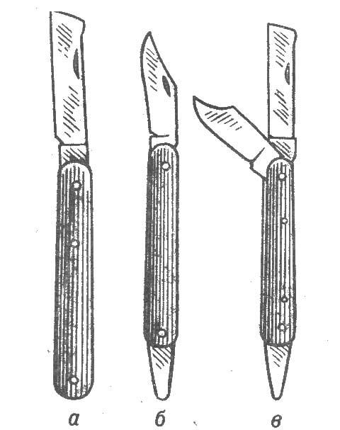 Прививочный нож чертежи